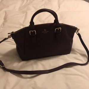 Kate Spade wine colored purse with double handles